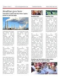 Newspaper Page Template Wsopfreechips Co