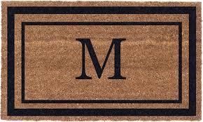 large front door matsMonogram Personalized Doormat Classic Border Vinyl Backing