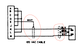 what do these dashed dotted lines mean in this power cord power cable schematic taken from the manual