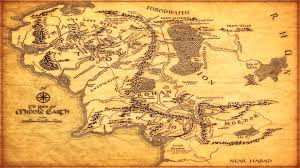 map of middle earth j r tolkien endearing enchanting full size