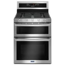maytag 30 6 0 cu ft double oven self clean convection gas range
