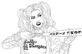 View and print full size. Harley Quinn Coloring Pages Free Printable Coloring Pages For Kids