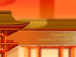 oriental powerpoint template powerpoint template oriental building design on orange