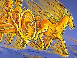 Image result for elijah in the bible flying chariot