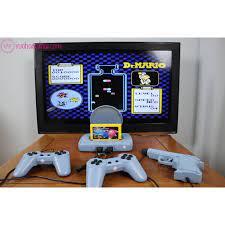 Máy chơi game 4 nút cổ điển, có súng bắn vịt - Tích hợp sẵn 999999 trò, kèm  băng 500 game không trùng. giá cạnh tranh