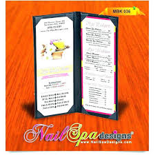 To Go Menu Templates Spa Menu Template Download Spa Menu Templates Free Documents