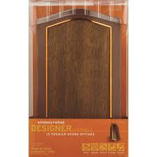 IQ America Designer Series Mahogany Laminate Wired/Wireless Door ...