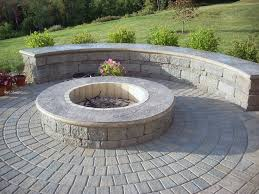 block fire pit stamped concrete cap fire pit aztlan outdoor living highland ny