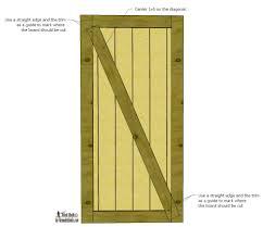 Barn Door Plans Diy Remodelaholic Simple Diy Barn Door Tutorial