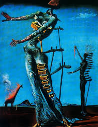 the burning giraffe by salvador dali