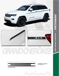 2019 Jeep Grand Cherokee Color Chart Details About 2011 2019 Jeep Grand Cherokee Stripes Body Pathway Sides Decals Vinyl Graphic