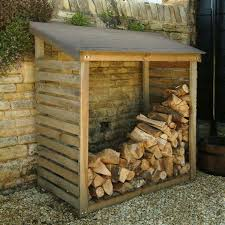 wooden log store / firewood storage - [for more home and decor inspirations