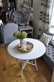 we started by reimagining this round table we use to utilize at our old house it was a 10 kijiji find i painted out white and it was too adorable to part