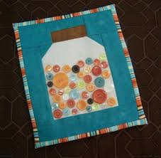 29 best Quilting with Buttons images on Pinterest   Buttons, Knots ... & Quilted Button Jars from Midnight Creations Adamdwight.com