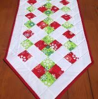 Hobo Rails Table Runner E-pattern | Quilt table runners, 50th and ... & Free Pattern, Easy Christmas Table Runner - via @Craftsy Adamdwight.com