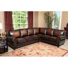 leather sectional couches. Modren Sectional Abbyson Living Nizza Hand Rubbed Leather Sectional Sofa To Couches
