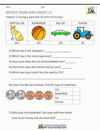 Math Money Worksheets 1st Grade Riddles First Printable 1 ~ Koogra