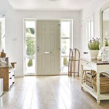 entry hall storage furniture. Scandinavian-style Hallway With Wood Flooring, Wooden Bench And White Console Table Entry Hall Storage Furniture F