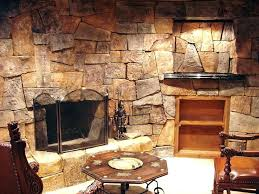 indoor stone wall home cultured ledge western style castle interior manufactured