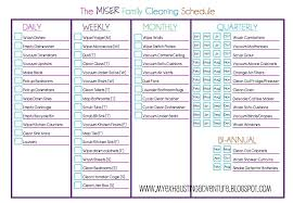 daily weekly house cleaning schedule weekly kitchen cleaning checklist remarkable on front of the house welcome