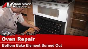 Hotpoint Oven Heating Element Replacement Maytag Whirlpool Oven Repair Bottom Bake Element Burned Out
