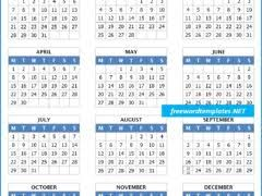 Calendar Template For Word Freewordtemplates Net Comprehensive Microsoft Word Templates