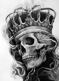 Calavera Con Corona Diseño татуировки эскиз тату и череп