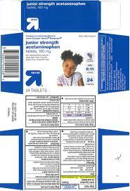 Junior Strength Acetaminophen Tablet Chewable Target
