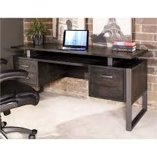Office desk modern Minimal 64 Inch Charcoal Modern Office Desk Mar Vista Rc Willey 64 Inch Charcoal Modern Office Desk Mar Vista Rc Willey