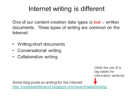 internet writing is different and important skills none it  6 83%
