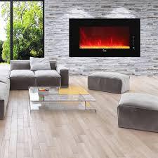 caesar fireplace 50 inch wall mount freestanding electric fireplace black chfp 50a gas log guys