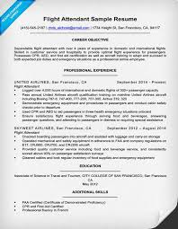 Flight Attendant Resume Templates Awesome Flight Attendant Resume Sample Writing Tips Companion In 48