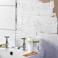 bathroom wall after removing tile