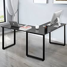 computer desk for home office. Merax L-Shaped Office Workstation Computer Desk Corner Home Wood Laptop Table Study For I