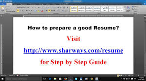 How To Prepare A Good Resume Write A Good Resume Free Resume Template Free Biodata Template