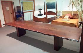 slab timber dining table fine art