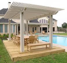 wood patio with pool. Pergola Ideas Houston Wood Patio With Pool