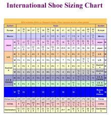 International Shoe Sizing Chart Perfect For Traveling