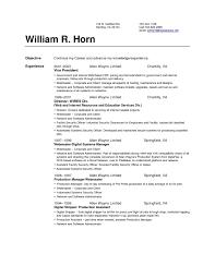 Basic Resume Set Up Resume