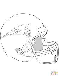 Small Picture New England Patriots Helmet coloring page Free Printable