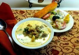 olive garden s zuppa toscana salad and bread sticks