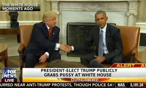 PHOTO President Elect Trump Publicly Grabs P ssy at the White House