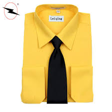 Yellow Designer Shirt Mens 2018 Latest Designer Long Sleeve Wholesale Mens Dress Shirts With Tie Buy Wholesale Mens Dress Shirts With Tie Long Sleeve Dress Shirt Designer Long