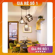 Giá bán Đèn thả bàn ăn - Đèn thả - đèn trang trí hình học đa dạng - Tặng  kèm bóng LED cao cấp