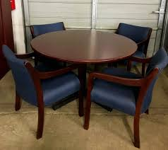 round office desk. Mahogany Round Table And Chairs Image Office Desk