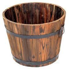 dia extra large wooden whiskey barrel planter