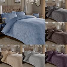 details about 600 thread count jacquard cotton rich damask duvet cover with oxford pillowcases