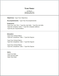Resume Templates For No Work Experience Resume Format Download Pdf