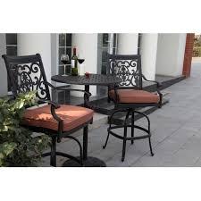 3 piece patio bar set. Contemporary Set Darlee St Cruz 3 Piece Cast Aluminum Patio Counter Height Bar Set With  Swivel Stools  Ultimate For A