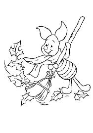 Kids N Fun Kleurplaat Winnie De Pooh En Knorretje Knorretje Veegt